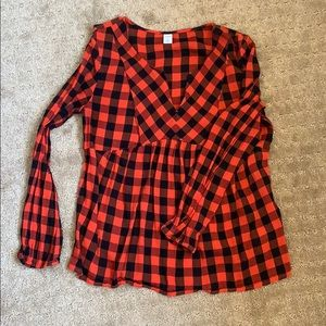 """Old Navy """"Flannel"""" Blouse"""